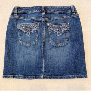 Embellished Bling Pocket Denim Skirt Sz 4